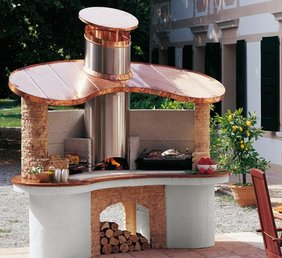 Barbacoas hornos barbacoa de obra hornos de le a for Barbacoas prefabricadas